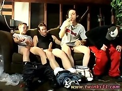 Gay twinks Garage Smoke Orgy