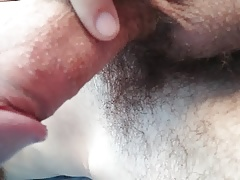 Uncut cock getting hard