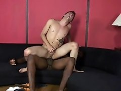 Monster black cock fuck slut white twinky