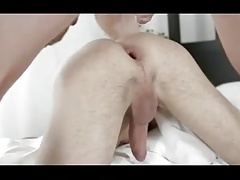 Cumming is his open wide ass
