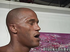 Twink getting shared by hung black studs