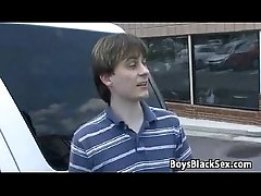 Blacks On Boys - Gay Bareback Interracial Fuck Scene 12