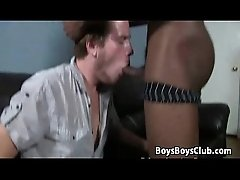 Gay black couple fucks a white guy at BlacksOnBoys 24