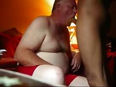 Grandpa suck younger cock