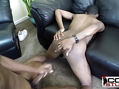 Thugs bareback on couch