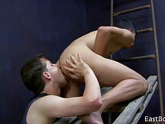 18 Boys - Sucking - Feet Licking and Cum Eating