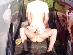 A nice fuck in the middle of a parking lot