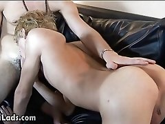 Horny twink wakes his boyfriend up and bangs him