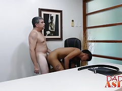 not daddy enjoying fucking an asian twink