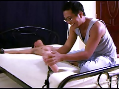 Asian Twink Benjamin Bouned and Tickled