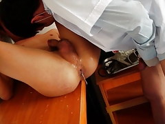 Doctor twink sucking and bareback fun
