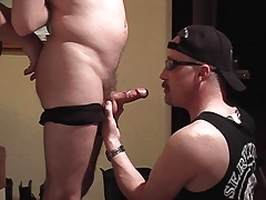 Sexy twink sucks his dick