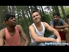Blacks On Boys - Gay Hardcore Bareback Interracial Porn Video 14