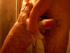 Young Man Shower and Cums