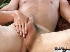Buff Sweetheart Jerks Off His Big Dick