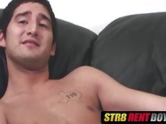 Gorgeous amateur twink Romeo masturbates while moaning