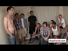 Bukkake Gay Boys - Nasty bareback facial cumshot parties 07