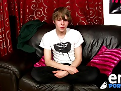 Emo twinks Josh Frey sprays a huge load of jizz on himself