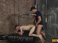 Horny Deacon likes to hard fuck Thomas tight mouth and ass