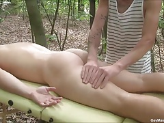 Hot Outdoor Gay Blowjob And Massage