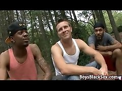 Blacks On Boys -Hardcore Bareback Interracial Gay Fucking Porn Stream 14